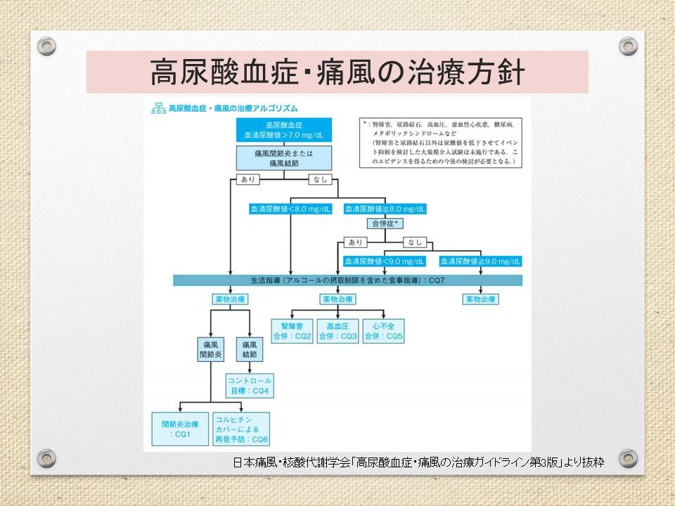 高尿酸血症痛風治療方針